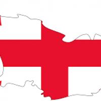 نقشه کوچک گرجستان با پرچم